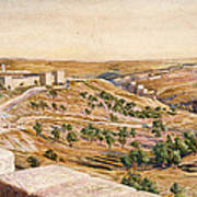 The Walls Of Jerusalem, 1869 Poster by William Holman Hunt