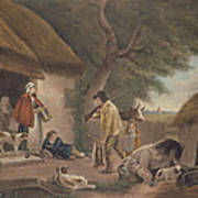 The Warrener, Engraved By William Ward 1766-1826, Pub. By H. Morland, 1806 Mezzotint Engraving Poster