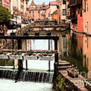The Waterways Of  Old Annecy Poster