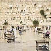 The Western Wall In Jerusalem Israel Poster