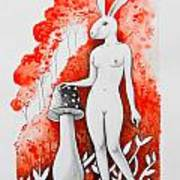 The White Bunny Poster