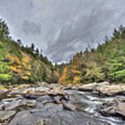 The Wild River Oil Painting Poster