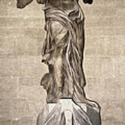 The Winged Victory Of Samothrace Marble Sculpture Of The Greek Goddess Nike Victory Poster