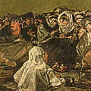 The Witches Sabbath Or The Great He-goat, One Of The Black Paintings, C.1821-23 Oil On Canvas Poster