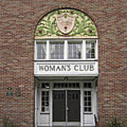 The Womans Club Bids You Welcome Poster by Daniel Hagerman