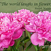 The World Laughs In Flowers Poster