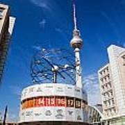 The Worldtime Clock Alexanderplatz Berlin Germany Poster