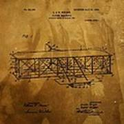 The Wright Brothers Airplane Patent Poster