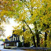 The Yardley Inn In Autumn Poster