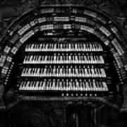 Theater Organ Poster by Jack Zulli