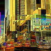 Theatre District - Neighborhoods Of New York City Poster