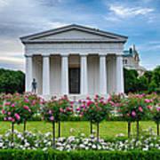 Theseus Temple In Roses Poster by Viacheslav Savitskiy