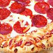 Thick Crust Peperoni Pizza Poster