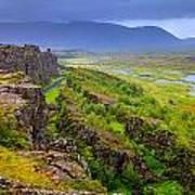 Thingvellir National Park Rift Valley Poster