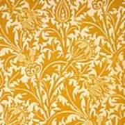 Thistle Wallpaper Design, Late 19th Poster