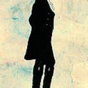Thomas Jefferson Silhouette 1800 Poster by Padre Art