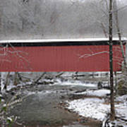 Thomas Mill Covered Bridge Along The Wintery Wissahickon Poster