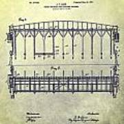 Thoroughbred Race Starting Gate Patent Poster