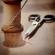 Thread And Scissors Poster