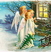 Three Angels In White Dresses Poster