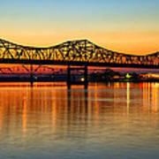 Three Bridge Sunset Poster