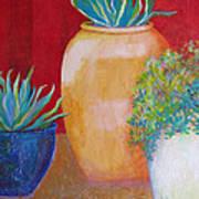 Three Bright Pots Poster