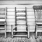 Three Chair Porch Poster