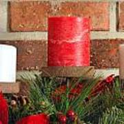 Three Christmas Candles Poster