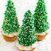 Three Christmastree Cupcakes  Poster