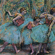 Three Dancers.blue Tutus Red Bodices Poster