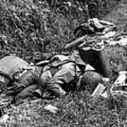 Three Dead U.s. Airborne Troops Poster