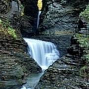 Three Falls In Watkins Glen Poster