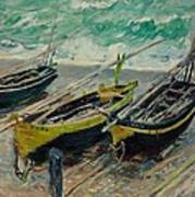 Three Fishing Boats Monet 1886 Poster