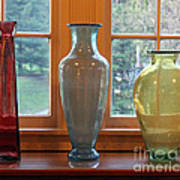 Three Glass Vases In A Window Poster