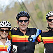 Three Gran Fondo Riders Poster