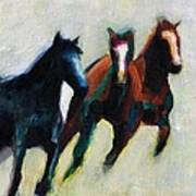 Three Horses On The Diagonal Poster