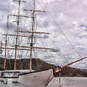 Three Mast Sail Boat Poster