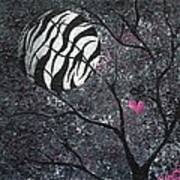 Three Moons Series - Zebra Moon Poster by Oddball Art Co by Lizzy Love