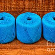 Three Skeins Of Knitting Yarn Poster