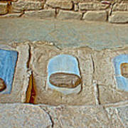 Three Stones For Grinding Corn In Spruce Tree House In Mesa Verde National Park-colorado Poster