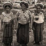 Three Women In Atitlan Poster