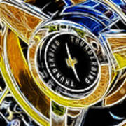 Thunderbird Spokes Fractal Poster