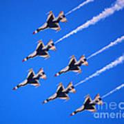 Thunderbirds Jet Team Flying Fast Poster