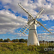 Thurne Dyke Windpump On The Norfolk Broads Poster