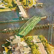 Ti Swingin' Swing Bridge Poster by Betsy Knapp