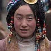 Tibetan Beauty - Kham Poster by Craig Lovell