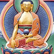 Tibetan Buddhist Deity Wall Sculpture Poster