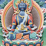 Tibetan Buddhist Temple Deity Poster by Tim Gainey