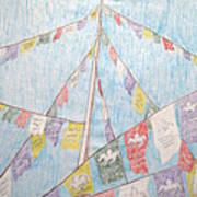 Tibetan Flags Poster by Elizabeth Stedman