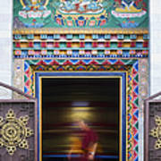 Tibetan Monk And The Prayer Wheel Poster